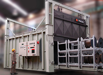 Teknoaustral - Automatic load furnace for aging aluminum wire