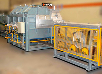 Teknoaustral - Continuous mesh belt brazing furnace